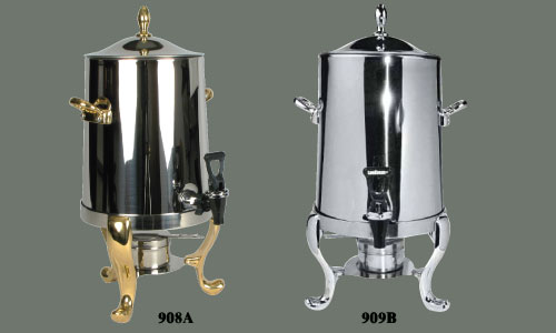 Coffee Urn with Plated Legs & Handles - Click Image to Close