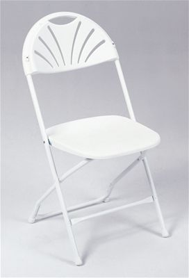 Plastic Chair Folding Reg. Back Chrome Frame