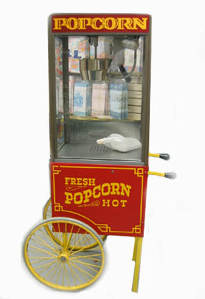 Pop Corn Cart With Machine