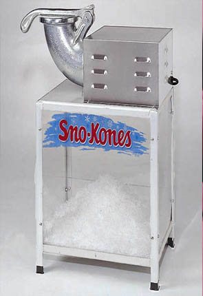 Snow Kone Machine - Click Image to Close